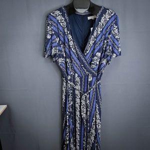 Ann Taylor LOFT Dress Size 26W Blue Womens Plus
